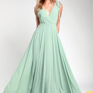 Lulus Dance The Night Away Sage Bridesmaid Dress